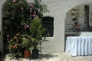 corner of the courtyard
